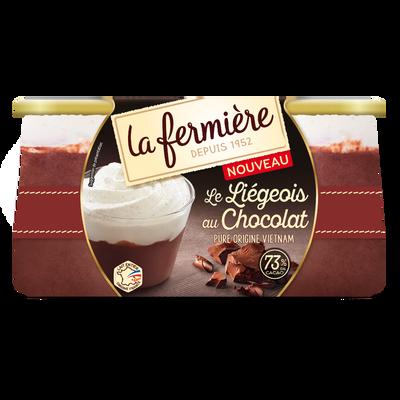 Liégeois au chocolat LA FERMIERE, 2x130g