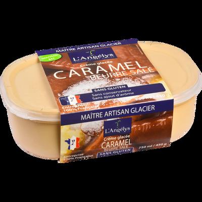 Crème glacée au caramel au beurre salé L'ANGELYS, pot de 450g