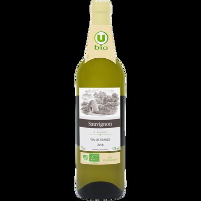 Vin de France Sauvignon blanc le Bosquet U BIO ble 75cl