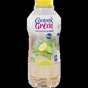 Contrex Eau Minérale Aromatisée Green Bio Infusion De Maté Saveur Citron Et Citron Vert Bio Contrex, 75cl