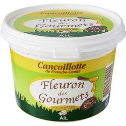 Cancoillotte à l'ail FLEURON DES GOURMETS, pot de 500g