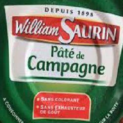 Pâté de campagne pur porc WILLIAM SAURIN, 78g