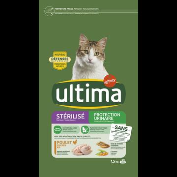 Ultima Croquettes Chats Stérilisés Protection Urinaire Ultima 1,5kg