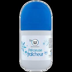 Déodorant femme précieuse fraîcheur BY U, bille de 50ml