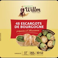 Escargots belle grosseur Alsace WILLM, x48 soit 355g