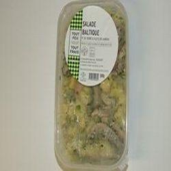 Salade Baltique, pomme de terre et filets de hareng, barquette de 500g, BREDIAL