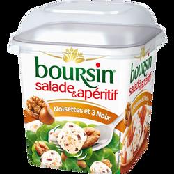 Spécialité fromagère pasteurisée salade 3 noix et noisettes, 42,5% deMG , BOURSIN, 120g