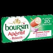 Boursin Fromage Pasteurisé Échalote Et Ciboulette Roulé Au Jambon Fumé Boursin, 32%mg, 100g