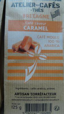 café moulu arome caramel 125gr atelier des cafés