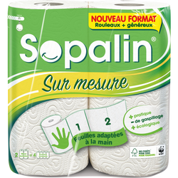 Essuie-tout blanc sur mesure SOPALIN, x2