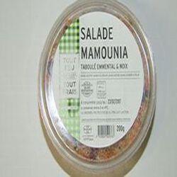 Salade Mamounia, taboulé emmental noix, BREDIAL, barquette de 200g