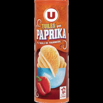 Tuiles goût paprika U, paquet de 170g