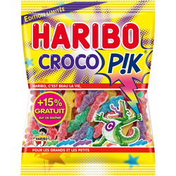 Bonbons Croco Pik HARIBO, sachet de 275g+15% offert, 317g