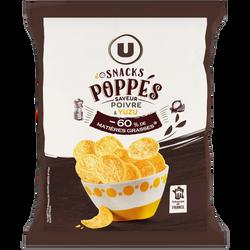 Snacks poppes saveur poivre et yuzu U, sachet de 85g