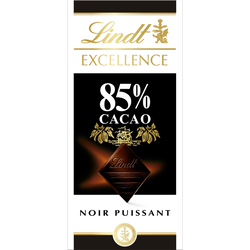 Chocolat noir 85% cacao Excellence LINDT, 100g