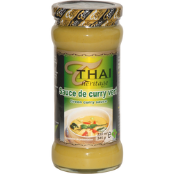 Sauce de curry vert THAI HERITAGE, 345g