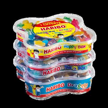 Haribo C'est Beau La Vie Happy Box+pikbox+dragolo Haribo, 2+1 Offert