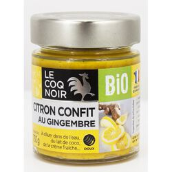 Citron confit au Gingembre Bio LE COQ NOIR 130g