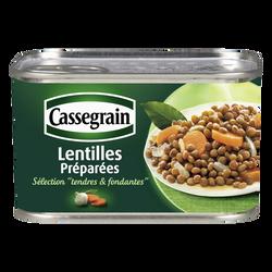 Lentilles cuisinées aux oignons et carottes CASSEGRAIN, boîte de 265g