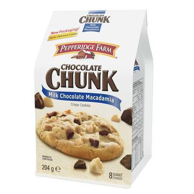 Cookies chocolat au lait et macadamia Sausalito PEPPERIDGE FARM, 204g