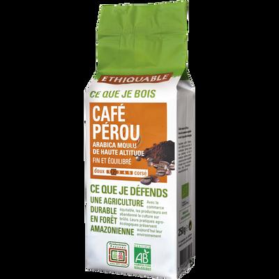 Café moulu Pérou Bio ETHIQUABLE, 250g