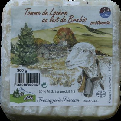Tommette au lait pasteurisé de brebis Rissoan, 30%MG, 300g