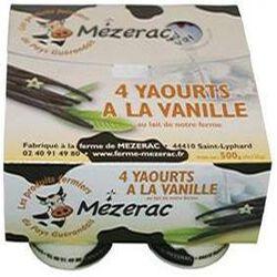 YAOURT VANILLE 1/2 ECREME X4 MEZERAC