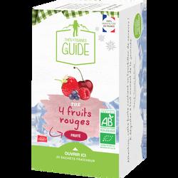Thé aux 4 fruits rouges bio TISANE DU GUIDE, x20 soit 38g