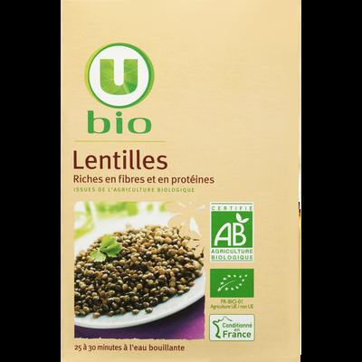 Lentilles U BIO, paquet de 500g