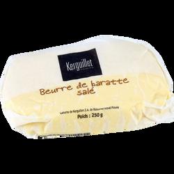 Beurre de baratte salé au sel fin de Guérande lait pasteurisé 78% de MG, 250g
