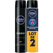 Nivea Déodorant Homme Deep Nivea Atomiseur 2x200ml