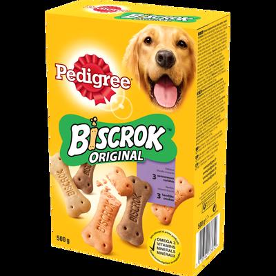 Biscuits pour chien Biscrok 3 variétés PEDIGREE, boite de 500g