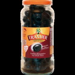 Olives noires confites sans saumure dénoyautées TRAMIER, bocal de 37cl