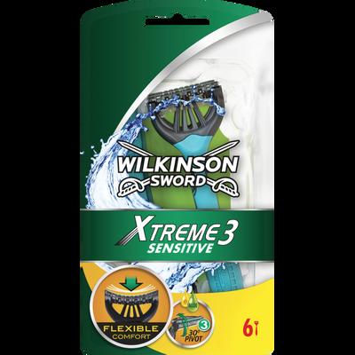 Rasoir masculin X-Trême 3 Pure Sensitive WILKINSON, x6