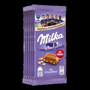 Milka Chocolat Au Lait Et Riz Soufflé Milka, 6x100g