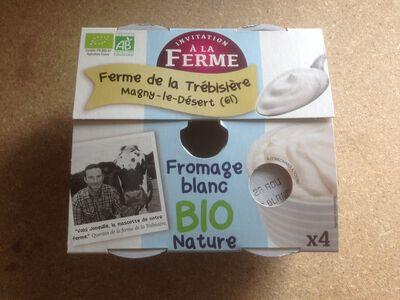 Fromage blanc nature, bio, lait pasteurisé de vache, 4X100g