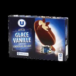 Bâtonnet envie vanille enrobage chocolat au lait, U, x 4, 258g