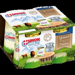 Yaourt nature Pot carton SAVOIE YAOURT, 4x125g