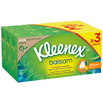 Kleenex Mouchoirs Balsam Kleenex Boîte 3x72
