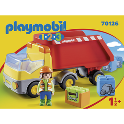Playmobil 1.2.3 - Camion benne - 70126 - Dès 18 mois