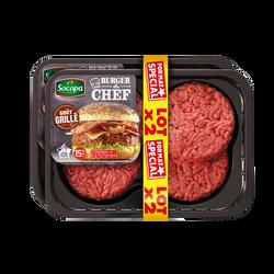 Burger du chef au boeuf saveur grillée 15%Mat.Gr., SOCOPA, France, 8 pièces, barquette 1kg