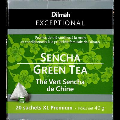Thé vert sencha de Chine DILMAH, sachet de 40g