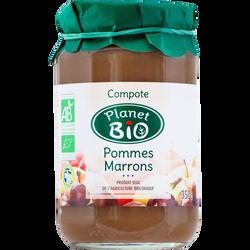 Compote de pommes marrons PLANET BIO, 350g