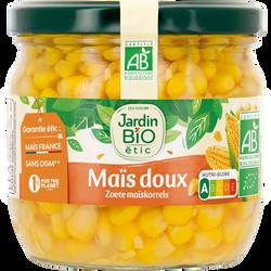 Maïs doux croquant bio JARDIN BIO, bocal de 330g