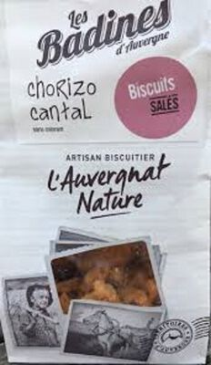 Badines Chorizo Cantal artsan biscuitier Saint Rémy de Chargnat 120g