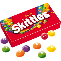Bonbons acidulés aux fruits SKITTLES, boîte de 45g