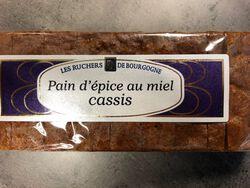 Pain d'épices au miel cassis Ruchers de Bourgogne 300g