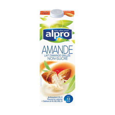 Lait d'amande non sucré avec calcium et vitamines ajoutés, ALPRO, 1 litre