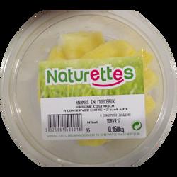 Ananas morceaux, NATURETTES, barquette, 150g