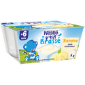 Nestlé P'tit Brassé Banane Dès 6 Mois , 4 Coupelles De 100g